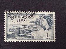 Buy Barbados stamp 1v used 1953 QE II SG 289 Dover Fort