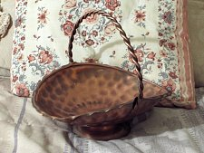 Buy COPPER Basket Decorative Fruit Flower Floral 10 in Used