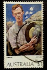 Buy Australia's 1970s Paintings series 1974 $1 Sergeant of Lighthouse Stamp