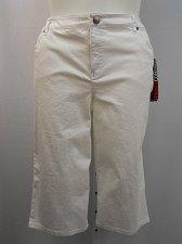 Buy Women Capris STYLE&CO SIZE 18 Skimmer White Tummy Control 5 Pocket 42X16 Mid Ris