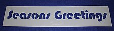 "Buy Seasons Greetings Message Stencil-14 Mil Mylar-5"" x 23.5 Painting/Craft/Stencil"