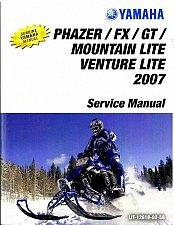 Buy 2007-2009 Yamaha Phazer FX GT / Mountain / Venture Snowmobile Service Manual CD