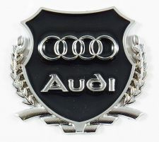 Buy Audi & Bespoke Fender/Wing Metal Decal Badges for your Car. (A Pair of Badges)