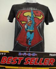 Buy Superman Black and red Cotton T-Shirt Super Hero Dccomics,Warner Bros