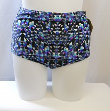 Buy SIZE 18 Women High Waist Bikini Bottom SWIM SEXY Multi- Color Geometric Lined