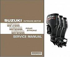 Buy 2009-1015 Suzuki DF70A / DF80A / DF90A EFI Outboard Motors Service Manual on CD