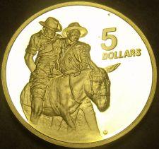 Buy Australia 1990 $5 Dollars Proof~RARE~33,752 Minted~ANZAC MEMORIAL~Free Shipping