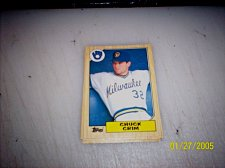 Buy 1987 Topps Traded Baseball ROOKIE CHUCK CRIM BREWERS #T25 FREE SHIPPING
