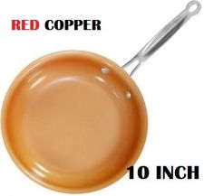 Buy Red Copper Ceramic Non-Stick 10in Cookware Pan