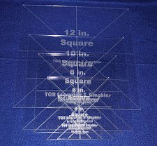 """Buy 6 Pc Square Set 2,4,6,8,10,12- 1/8"""" Clear Acrylic - Quilting Templates- No seam"""