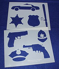 Buy 2 -Mylar 14 Mil Police Department Stencils Painting/Crafts/Stencil/Template