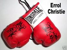 Buy Autographed Mini Boxing Gloves Errol Christie