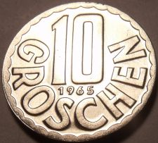 Buy Proof Austria 1965 10 Groschen~Imperial Eagle~Free Shipping