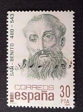 Buy Spain used 1v stamp 1981 St Benedict of Nursia Benedictus