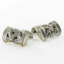 Buy John Hardy Classic Chain Braided Cufflinks Sterling 925 NEW $495