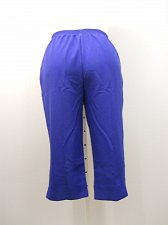 Buy Womens Capri PETITES SIZE 16P Solid Blue Elastic Waist Inseam 19 SALON STUDIO