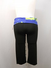Buy Womens Yoga Pants PLUS SIZE 1X Track CHIN UP Workout Black Fold Over Waistband
