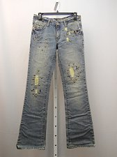 Buy Women Boot Cut Jeans Women SIZE 3 Distressed Embellished Stonewashed 30X32