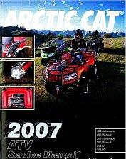 Buy 2007 Arctic Cat ATV Service Repair Manual CD - ArcticCat 400 500 650 H1 700 EFI