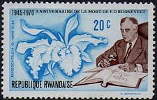 Buy Rwanda 1v mnh Stamp Michel 422 Anniversary of the death of President Roosevelt