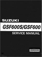 Buy 00-03 Suzuki GSF600S / GSF600 Bandit Service Repair Manual CD --- GSF 600 S
