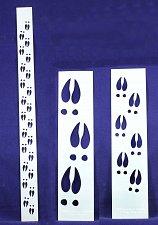 Buy Deer Hoof Tracks- 3 Pc Set- Stencils -14 mil Mylar Painting/Crafts/Borders