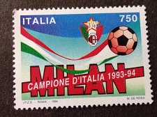 Buy Italy Football MNH stamp 1994 National Football Champions - Milan