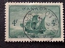 Buy Canada Used 1v #282 - Cabot's ship Mathew (1949) 4¢