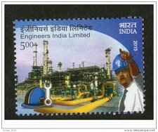Buy India MNH 1v Stamp 2015 Engineers India Limited Thematic Stamp on Heavy Engineer