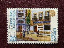 Buy Andorra Spanish 1v used stamp Europa (C.E.P.T.) 1990 - Post Office Building