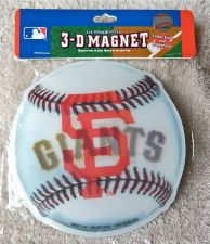 "Buy San Francisco Giants - 5"" x 5"" Baseball Style Ultra Depth Hologram 3-D Magnet"