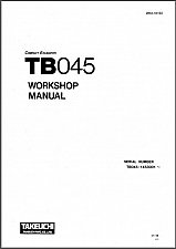 Buy Takeuchi TB045 Compact Excavator Service Manual on a CD