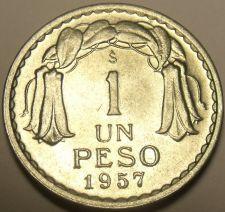 Buy Chile 1957 Peso Unc