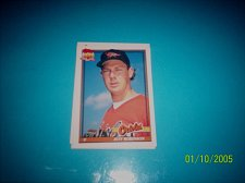 Buy 1991 Topps Traded card of jeff robinson orioles #100T mint