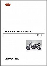 Buy Moto Guzzi Griso 8V 1200 Service Manual on a CD - in English and German