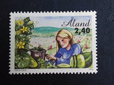 Buy Alland 1V MNH STAMP 1998 Mi135 Aland cultivation plants - Cucumber