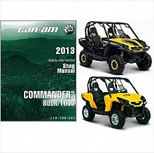 Buy 2013 Can-Am Commander 800R / 1000 Service , Parts & Owner's Manual on a CD