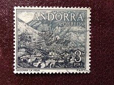 Buy Andorra Spanish 1964 1v used Stamp 3Pta, Stamp out of set Definitives, lands