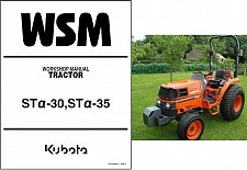 Buy Kubota ST30 Alpha / ST35 Alpha Tractor WSM Service Manual on a CD - ST 30 35 STα