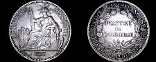 Buy 1887-A French Indo-China 1 Piastre World Silver Coin - Vietnam