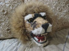 Buy LION s Head Wall Plaque Made with Rabbit Fur 10 X 9 in