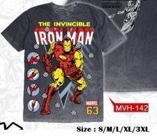 Buy Iron man Gray Cotton T-Shirt The Avengers Super Hero Marvel Free Shipping Size M