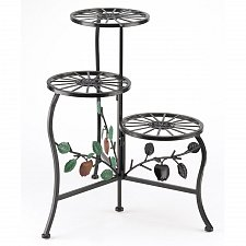 Buy 39857U - Country Apple Wrought Iron Plant Stand Shelves