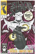 Buy Silver Surfer #50 Silver Embossed Cover 1st print VF- or better range GUARDIANS
