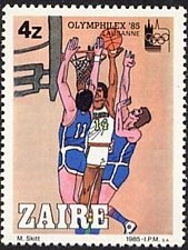 Buy Zaire1v mnh Stamp Olymphilex 85 1985 International philatelic-exhibition in Laus
