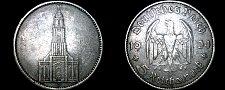 Buy 1934-J German 5 Reichsmark World Silver Coin - Germany 3rd Reich - Key Date