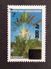 Buy Madagascar 1v mnh Michel 2589 overprinted Palm-trees,Plants