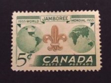 Buy Canada 1955 postage stamp Used Thematic Item Scouting World Jamboree 5¢