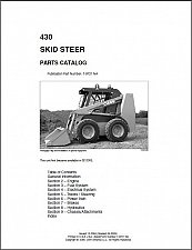 Buy Case 430 Skid Steer Loader Parts Manual CD -- in English, French and Spanish