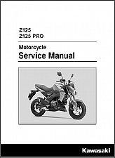 Buy 2016-2017 Kawasaki Z125 / Z 125 Pro Service Manual on a CD